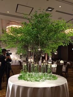 The filled vases could be nice centerpieces as well Candle Wedding Centerpieces, Wedding Table Flowers, Tree Wedding, Wedding Bouquets, Wedding Decorations, Flower Arrangement Designs, Floral Arrangements, Corporate Flowers, Wedding Entrance