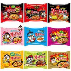 Samyang Hot Chicken Ramen Variety 9 Packs Samyang Ramen, Cheese Ramen, Disney Princess Memes, Squash Seeds, Bistro Food, Coffee Shop Design, Sky Aesthetic, Chicken Flavors, Food Facts