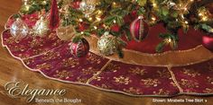 decor Tree Skirts - Frontgate i love the tree skirts that frontgate offers they are so rich looking Christmas Scenes, Christmas Stuff, Christmas Holidays, Christmas Ideas, Christmas Decorations, Xmas, Holiday Decor, Tree Stands, Christmas Garden