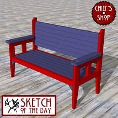 Sketch of the Day: Simple Party Bench