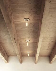 Plywood ceilings - photo from the Dwell House Tour, via Morgan Satterfield's The Brick House.