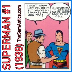 """Superman #1 (1939). In other words, """"I'm Clark Kent."""""""