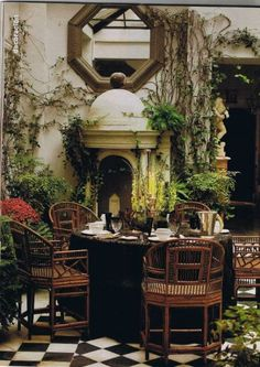 persephonesbox: Love the outdoor indoor atrium style patios - perfect