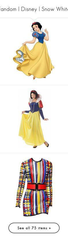 """Fandom | Disney | Snow White"" by christinagleason ❤ liked on Polyvore featuring disney, Disneyprincess, characters, snow white, backgrounds, disney characters, costumes, halloween costumes, womens princess halloween costumes and plus size snow white costume"