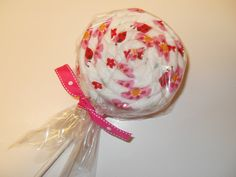 Ladybug Receiving Blanket Lollipop by babydelights1 on Etsy, $7.99