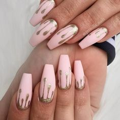 Delicate Matte Pink Color Is Perfect For Coffin Nails ❤️Coffin Nails Ideas For Enchanting Look ❤️ See more: https://naildesignsjournal.com/coffin-nails-exciting-ideas/ #naildesignsjournal #nails #nailart #naildesigns