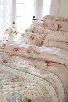 Shabby chic bedroom.....yes my room will be shabby chic!!:) but of course, with some awesome pops of color....