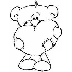 oso animado para colorear divertidos Dibujos para pintar Pinterest