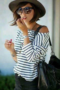 Parisian Style. Fashion. Stripes.