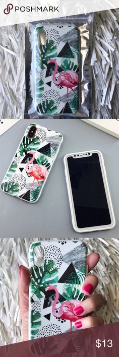 NEW iPhone X 10 Tropical Flamingo Soft TPU Case ▪️New Sealed In package , Fits iPhone X    ▪️High Quality Soft TPU - Thick & Shock-Resistant        ▪️Same or Next Business Day Shipping ! Accessories Phone Cases