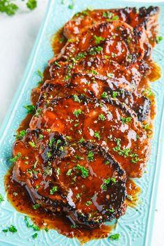 Balsamic Honey and Mustard Pork Chops (Closet Cooking)