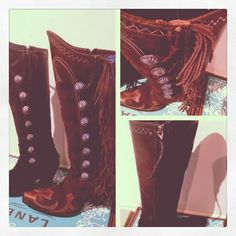 The Vaquero Fringed Boot in black and brown - collaboration with Double D