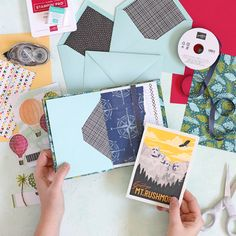 Learn how to make a cute mini book out of envelopes. The envelopes become pockets in the book to store mementos, postcards or photos. Such a cute scrapbooking project! It makes the perfect mini album. Postcard Display, Diy Postcard, Printable Postcards, Teacher Postcards, Postcard Layout, Postcard Album, Postcard Wall, Funny Postcards, Postcard Template