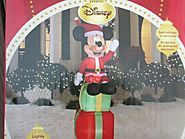 Cheap Mickey Mouse Christmas Inflatable | Disney 6' Mickey Mouse with Christmas Gifts Lighted Airblown Inflatable Outdoor Yard Decoration