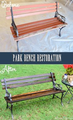 DIY: A Wood Bench Restoration for Beginners Plus Great Tips for using a 'HomeRight Finish Max Pro Fine Finish Sprayer' - great, detailed tutorial even for beginners (like me)  :)