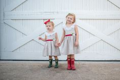 Red Velvet Christmas Dress with Rosette, Linen, Lace, Red Velvet and Gold Buttons, Christmas Dress, Girls Dress, Holiday, Holiday Photos, Photography, Christmas, Santa, Pictures, Rainboots, Hunter Boots, Christmas, Christmas cards, girls clothing, dresses, lace dresses