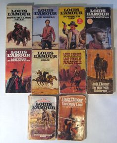 10 Western Books by Louis L'Amour Last Stand at Papago Wells Son of a Wanted Man