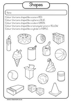 math worksheet : here s a page on 3 d shapes that asks students to identify the  : Shapes Math Worksheets