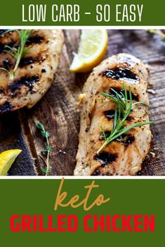 The star of this Keto Grilled Chicken Recipe is its delicious marinade with delivers flavorful and juicy chicken every time! You can use breast, thighs or tenders with this easy recipe. Definitely one to PIN! #kickingcarbs #wendypolisi #KetoGrilledChicken #KetoChickenRecipes Best Low Carb Recipes, Low Carb Chicken Recipes, Grilled Chicken Recipes, Keto Chicken, Yum Yum Chicken, Keto Recipes, Grilling Recipes, Lunch Recipes, Easy Dinner Recipes