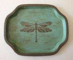 (vu) http://www.etsy.com/listing/92551464/shabby-chic-dragonfly-valet-tray