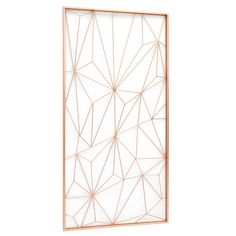The copper web wall sculpture will add some glamour and interest to your wall in your home. We love its geometric design.