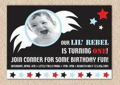 Lil' Rebel Birthday Invite  PRINTABLE INVITATION DESIGN by Quax, $12.00