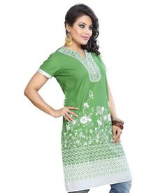 Folklore Green Kurti FOKU000075. Mohan aapte · Folklore - snapdeal · Women  dress ... 744e1568a