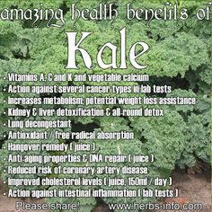 ❤ The Amazing Health Benefits Of Kale ❤