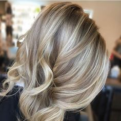Image result for brown to blonde ombre blonde at top of head