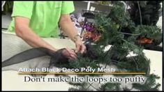 deco mesh tubing crafts - YouTube