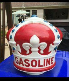 Original 1920's Standard Oil Crown Gas Globe