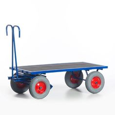GTARDO.DE:  Handpritschenwagen, Tragkraft 700 kg, Ladefläche 1200x800 mm, Vollgummi, Maße 1400x800 mm 495,00 €