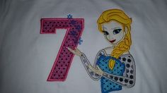 Birthday Snow Princess Birthday Shirt Personalize  Applique, Embroidery With Name Number by fabuellaboutique. Explore more products on http://fabuellaboutique.etsy.com
