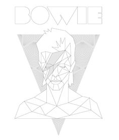 David Bowie design, by Say It Clothing Berlin - Hand printed with screen printing on organic cotton.