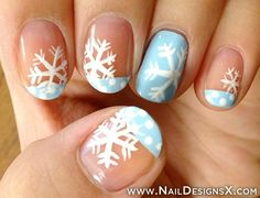 Let it snow on your nails 20 snowflake nail arts snowflake snow nail design nail designs nail art prinsesfo Gallery
