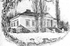 Dwór Szafnaglów w Kuszlanach, ca 1890, Bialorus Manor Houses, Eastern Europe, Castles, Poland, Cabin, Bright, Painting, Inspiration, Design