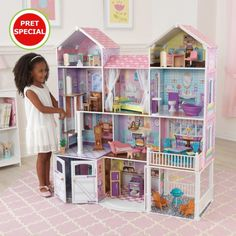 Kidkraft Country Estate Dollhouse Large Toy With Furniture Fits Barbie Dolls CS for sale online Kids Doll House, Doll House Plans, Barbie Doll House, Barbie Dolls, Doll Toys, Wooden Barbie House, Barbie Clothes, Wooden Dollhouse, Dollhouse Dolls