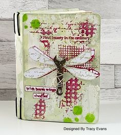 Tracy Evans: Find Beauty in the Ordinary December 11, July 11, 8th Of March, Art Journals, The Ordinary, Mini Albums, Making Ideas, Birthday Cards, Mixed Media