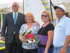 Art, Ann and Michele Carson with Captain Robert Anthony, Nashville, September 2010