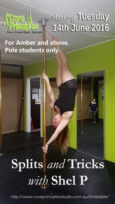 Flexibility is required for advanced levels of pole, intermediate and above.  Starting this at the start of your pole journey, will save missing out on your favourite moves down the track. #poledance #polefitness #polesplits #poletricks #flexibility #core #Tuesday