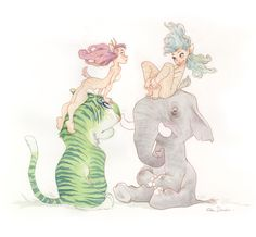 Forest Meeting by `alohalilo By Chris Sanders, who created Lilo and Stitch