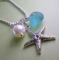 A Sea Glass Jewelry  Starfish Series Necklace by gardenleafdesign, $22.00