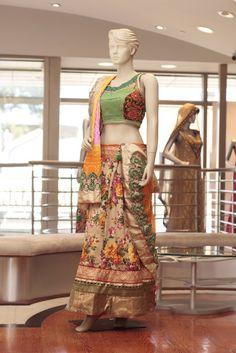 Embroidery: Thread work  Fabric: Chanderi Silk