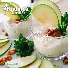 Cantaloupe, Salad Recipes, Panna Cotta, Side Dishes, Salads, Pudding, Apple, Fruit, Eat