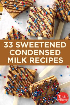 33 Sweetened Condensed Milk Recipes 33 Sweetened Condensed Milk Recipes 33 Sweetened Condensed Milk Recipes This simple addition takes your desserts to the next level. Recipes Using Condensed Milk, Condensed Milk Desserts, Condensed Milk Cookies, Sweet Condensed Milk, Eagle Brand Recipes, Eagle Brand Condensed Milk, Malted Milk, Simple Addition