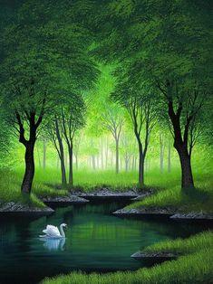 Fantasy Landscape, Landscape Art, Landscape Photography, Nature Photography, Watercolor Landscape, Easy Landscape Paintings, Scenery Paintings, Beautiful Landscape Wallpaper, Beautiful Landscapes