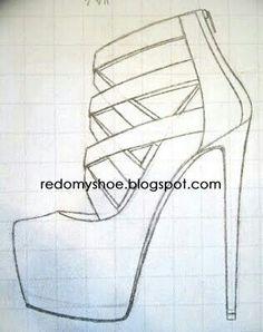 Slikovni rezultat za high heels to draw Dress Design Sketches, Shoe Sketches, Fashion Design Drawings, Fashion Sketches, Amazing Drawings, Easy Drawings, Drawing High Heels, Shoe Drawing, How To Draw Heels