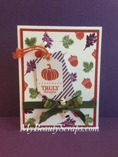 My Paper Pumpkin Wickedly Sweet September 2015 - Alternate Card Idea