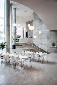 The Fritz Hansen Grand Prix Chair is perfect for all environments - whether lobbies, restaurants, cafes, or in the home http://www.nest.co.uk/browse/brand/fritz-hansen/fritz-hansen-grand-prix-chair Image via Fritz Hansen.