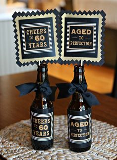 Great Pictures Birthday Decorations Suggestions You won't have to retain . Great Pictures Birthday Decorations Suggestions You won't have to retain an internal designe 60th Birthday Ideas For Dad, 70th Birthday Parties, Birthday Party Tables, 50th Birthday Party, Birthday Gifts, Birthday Party Decorations For Adults, Birthday Party Centerpieces, Centerpiece Decorations, Beer Bottle Centerpieces